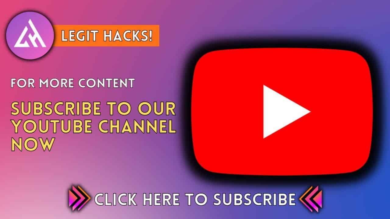 legit hacks subscribe banner legithacks.tech